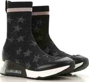Sneakersy Ash w młodzieżowym stylu ze skóry sznurowane