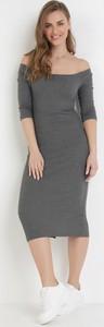Sukienka born2be hiszpanka z krótkim rękawem w stylu casual
