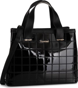 Czarna torebka Monnari na ramię lakierowana duża