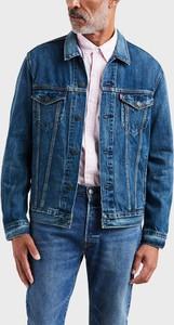 Niebieska kurtka Levis krótka z bawełny