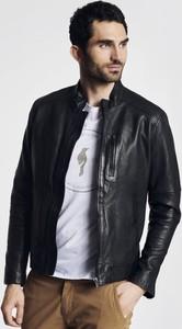 Czarna kurtka Ochnik ze skóry