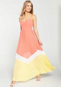Sukienka V by Very na ramiączkach maxi z dekoltem w kształcie litery v