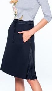 Granatowa spódnica L'AF z tkaniny