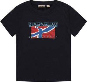 Czarna koszulka dziecięca Napapijri