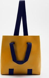 Żółta torebka Cropp duża w wakacyjnym stylu