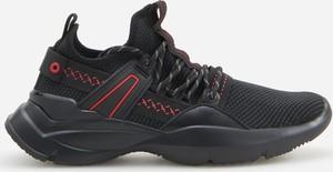 Czarne buty sportowe Reserved sznurowane