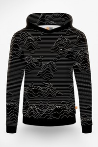 Czarna bluza Power Canvas w młodzieżowym stylu z bawełny