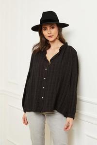 Czarna bluzka Fleur De Lin w stylu casual
