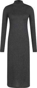 Czarna sukienka POLO RALPH LAUREN z wełny z długim rękawem w stylu casual