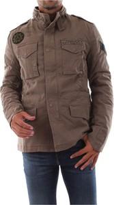 Brązowa kurtka Masons krótka w stylu casual