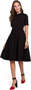 Sukienka Merg midi rozkloszowana z krótkim rękawem