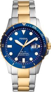 Zegarek FOSSIL - FB-01 FS5742 Silver/Gold/Blue