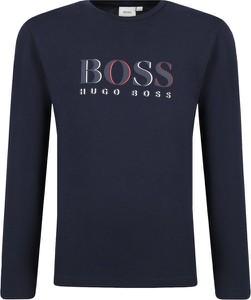 Czarna koszulka dziecięca Boss