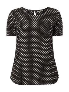 Czarna bluzka ONLY Carmakoma z okrągłym dekoltem