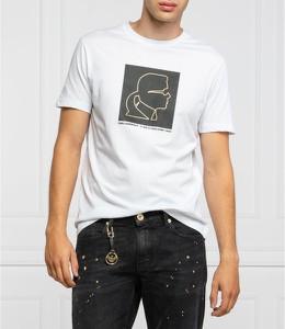 T-shirt Karl Lagerfeld w młodzieżowym stylu z krótkim rękawem z bawełny