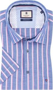 Koszula Hatico z krótkim rękawem z lnu w stylu casual