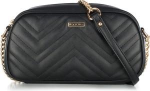 04ccd63360b48 czarna pikowana torebka na łańcuszku - stylowo i modnie z Allani
