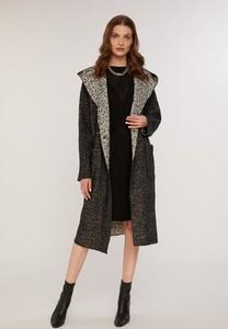 Czarny płaszcz FEMESTAGE Eva Minge w stylu casual z tkaniny