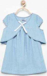 Niebieska sukienka dziewczęca Reserved dla dziewczynek z jeansu
