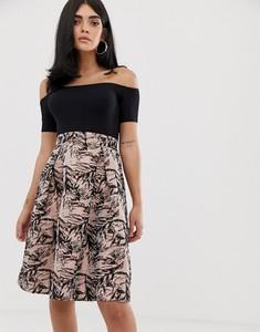 Czarna sukienka Ax Paris z krótkim rękawem mini