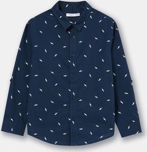 Granatowa koszula dziecięca Sinsay dla chłopców