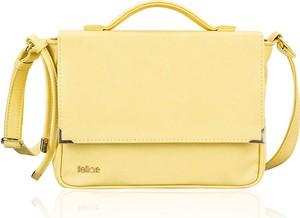 Żółta torebka Felice w stylu casual ze skóry