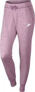 Fioletowe spodnie sportowe Nike z dresówki