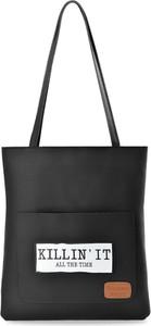 Czarna torebka world-style.pl w młodzieżowym stylu ze skóry ekologicznej na ramię