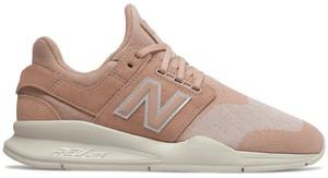 Buty sportowe New Balance z zamszu w sportowym stylu z płaską podeszwą