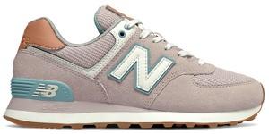 Buty sportowe New Balance sznurowane z zamszu z płaską podeszwą