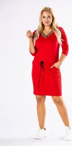 Sukienka Ptakmoda.com z dresówki z długim rękawem