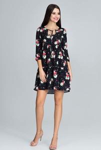 Sukienka Figl rozkloszowana mini z długim rękawem