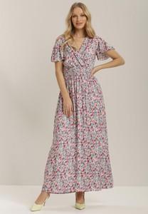 Sukienka Renee z dekoltem w kształcie litery v maxi z krótkim rękawem