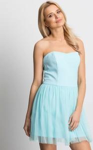 Niebieska sukienka Factory Price bez rękawów mini