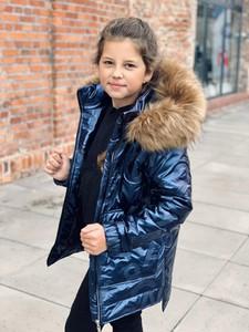 Granatowa kurtka dziecięca e-lily.pl