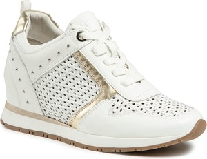 Buty sportowe Quazi z płaską podeszwą ze skóry sznurowane