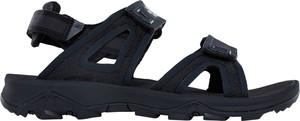 Granatowe sandały The North Face z płaską podeszwą w stylu casual na rzepy