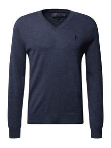 Niebieski sweter POLO RALPH LAUREN z wełny w stylu casual