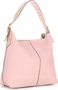Różowa torebka David Jones w stylu casual na ramię
