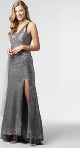 Sukienka Unique maxi z dekoltem w kształcie litery v
