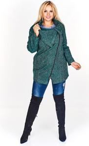 Zielona kurtka TAGLESS w stylu casual długa