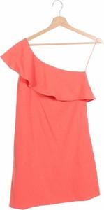 Pomarańczowa sukienka See u Soon z krótkim rękawem z okrągłym dekoltem