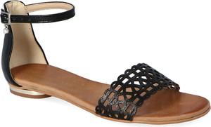 Sandały Lewski shoes ze skóry w stylu casual z klamrami
