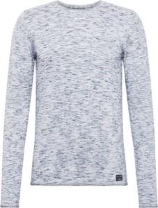 Niebieski sweter Blend z bawełny w stylu casual