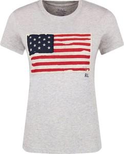T-shirt POLO RALPH LAUREN z krótkim rękawem w młodzieżowym stylu z okrągłym dekoltem