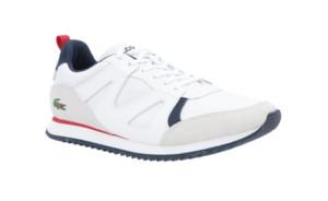 Buty sportowe Lacoste sznurowane ze skóry
