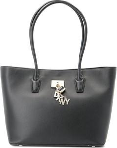 Czarna torebka DKNY duża na ramię