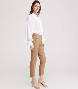 Brązowe spodnie Reserved w stylu klasycznym