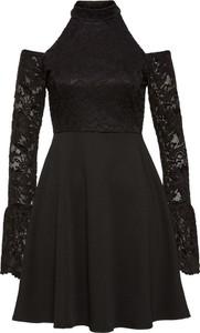 Czarna sukienka bonprix bodyflirt boutique z długim rękawem na co dzień