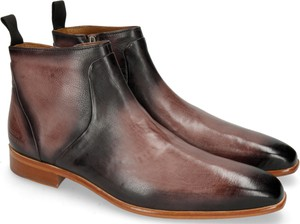 Brązowe buty zimowe Melvin & Hamilton ze skóry